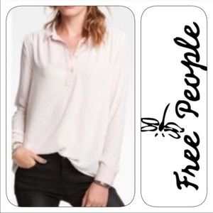 Free people all the pink horses blouse